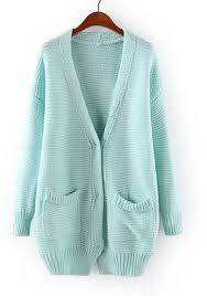 light blue cardigan sweater light blue plain v neck long sleeve blend cardigan cardigans