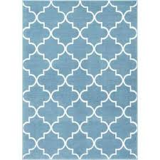 Blue Modern Rug Well Woven Area Rugs Rugs The Home Depot