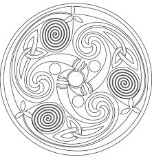 celtic spiral mandala coloring free printable coloring pages
