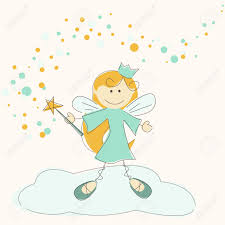 illustration of a fairy with magic stick royalty free cliparts