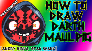how to draw darth maul pig from angry birds star wars