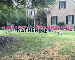 Birthday Lawn Decorations Happy Birthday Etsy