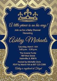 royal blue and gold baby shower prince king royal blue gold baby shower invitation 8 99