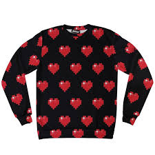 cheap sweatshirt pixel hearts sweatshirt belovedshirts