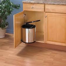 Kitchen Trash Can Ideas Door Mounted Kitchen Garbage Can Bibliafull Com
