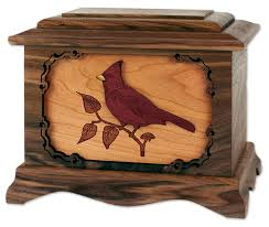 funeral urn cardinal cremation urn with inlay wood urns northwest