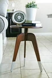 modern 3 leg end table free building plans diy pinterest