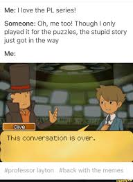 Professor Layton Meme - found on professor layton professor and video games