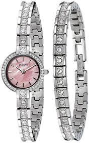 bulova ladies bracelet images Bulova women 39 s 96x131 swarovski crystal watch and jpg