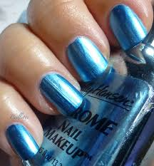 paillette a little nail polish journal blue water chrome