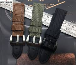 buckle clasp bracelet images 22mm 24mm 26mm fabric vintage black canvas nylon leather watchband jpg