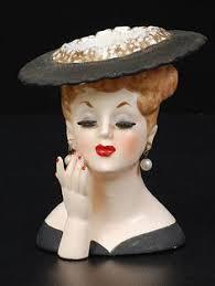 Napco Lady Head Vase Vintage 1956 Napco Lucille Ball Head Vase Excellent Cond