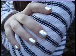 metallic nail foil wraps diy metallic nails with aluminium foil