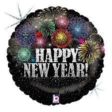 happy new year balloon karaloon shop 1 foil balloon happy new year fireworks