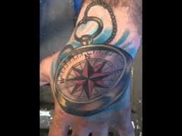 tattoo compass hand hand compass tattoo youtube