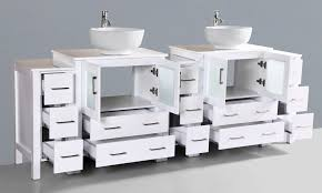 Contemporary  Inch Double Vessel Sink Bathroom Vanity Set With - Bathroom vanities double vessel sink