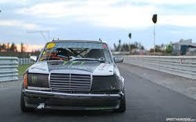 lowered mercedes w123 diesel fury the black smoke 300td wagon speedhunters