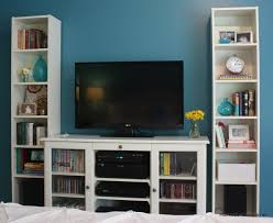 simple tv unit with bookcase small home decoration ideas interior