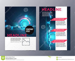 technical brochure template tri fold business brochure template stock vector illustration of