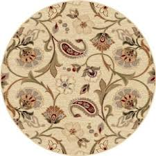 Rugs Bay Area Rugs Bay Area Round Brown Cream Floral Pattern Beautiful Classic