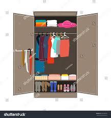 Home Interior Design Vector by Open Wardrobe Tidy Clothes Home Interior Stock Vector 639780790