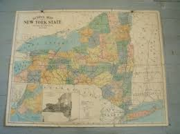 The Map Of New York by Severely Vintage 1920 U0027s Map Of New York