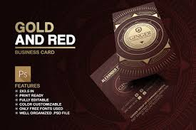 gold and red business card business card templates creative market
