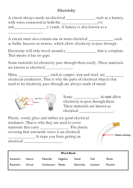 electricity cloze passage by hamdog teaching resources tes