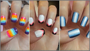 cute and easy nail designs using tape nails fashion styles