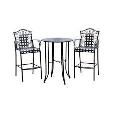 Three Piece Patio Furniture Set - bar height 3 piece patio furniture set icamblog