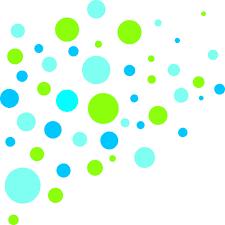 Muster Blau Grün Wandtattoo Kreise Muster Gr禺n Blau Wandbilder F禺r Kindgerechtes