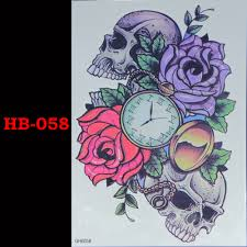 online get cheap purple skull tattoo aliexpress com alibaba group