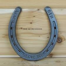6th wedding anniversary gift personalized engraved 6th anniversary or wedding horseshoe