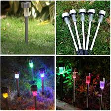 5pcs lot solar power led path light outdoor waterproof stainless