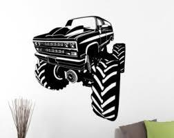 monster truck decals etsy