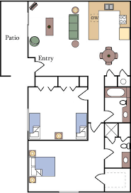 two bedroom two bath apartment floor plans floor plans and pricing fountain circle townhomes