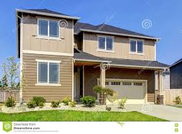 beige and brown siding house exterior stock photo image 75280331