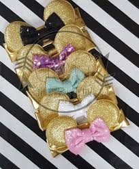 gold headbands pink gold glitter minnie mouse ears headbands for baby