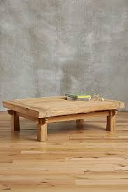 wood plank coffee table wide plank coffee table anthropologie