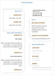 blank resume blank sample resume free basic blank resume template