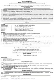 resume format for experienced software engineer it resume cover