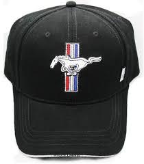 Mustang In Black Ford Mustang Tribar Logo Hat In Black U2013 The Mustang Trailer