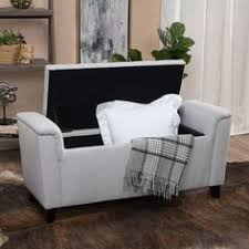 Noah Tufted Storage Ottoman Luke Fabric Storage Ottoman Bench By Christopher Knight Home