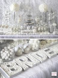 wedding shower decorations winter white bridal shower table the all white color