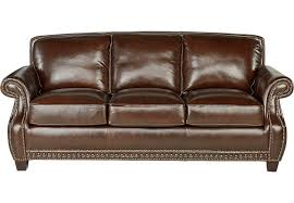 Rooms To Go Sleeper Loveseat Frankford Chocolate Leather Sofa Leather Sofas Brown