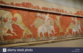 sogdia pre islamic central asia mural red hall composition mural red hall composition wall painting 7th 8th century varakhsha palace chamber 11 southem wall and part of the eastern wall uzbekistan