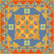 asian style ethnic pattern mongolian buryat kalmyk kazakh