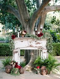 Wedding Altar Backdrop Autumn Arboretum Wedding Megan George Green Wedding Shoes