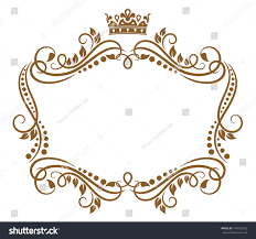 Royal Crown Home Decor Retro Frame Royal Crown Flowers Wedding Stock Vector 140759242