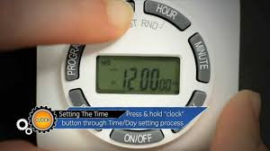 Outdoor Digital Timer Electrical Timers by Ge 15089 7 Day Digital Timer Setup Guide Youtube